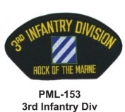 10cm Embroidered Millitary Large Patch 3rd Infantry Div