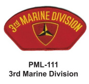 10cm Embroidered Millitary Large Patch 3rd Marine Division