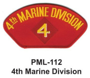 10cm Embroidered Millitary Large Patch 4th Marine Division