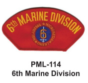 10cm Embroidered Millitary Large Patch 6th Marine Division