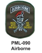10cm Embroidered Millitary Large Patch Airborne