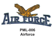 10cm Embroidered Millitary Large Patch Airforce