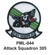 10cm Embroidered Millitary Large Patch attack squadron 305