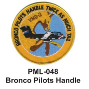10cm Embroidered Millitary Large Patch Bronco Pilots Handle