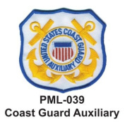 10cm Embroidered Millitary Large Patch Coast Guard Auxiliary