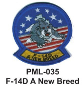 10cm Embroidered Millitary Large Patch F-14D A New Breed