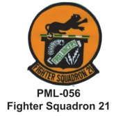 10cm Embroidered Millitary Large Patch Fighter Squadron 21