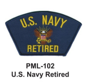 10cm Embroidered Millitary Large Patch U.s. Navy Retired