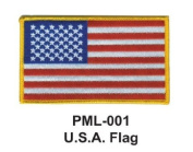 10cm Embroidered Millitary Large Patch U.S.A. flag
