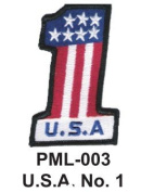10cm Embroidered Millitary Large Patch U.S.A. No.1