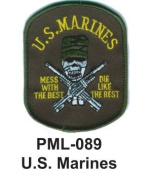 10cm Embroidered Millitary Large Patch U.S.Marines
