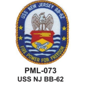 10cm Embroidered Millitary Large Patch USS NJ BB-62