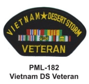 10cm Embroidered Millitary Large Patch Vietnam DS Veteran