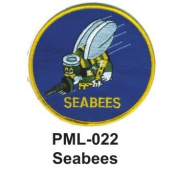 10cm Embroidered Millitary Large Patche Seabees
