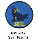 10cm Embroidered Millitary Large Patche Seal Team 2