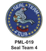 10cm Embroidered Millitary Large Patche Seal Team 4