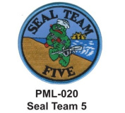10cm Embroidered Millitary Large Patche Seal Team 5
