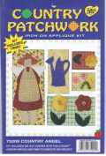 Country Patchwork Iron On Applique Kit 75209 Country Angel