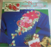 Daisy Kingdom Tartan Floral Christmas Poinsettia No-Sew Fabric Applique