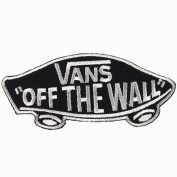 Vans off the Wall SKATEBOARD BLACK IRON ON PATCHES # WITH.