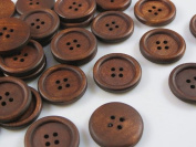 100 Pcs Wood Buttons 15mm Baby Sewing Craft