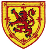 Scotland Coat of Arms Patch Lion Rampant Shield Embroidered Iron-On Royal Standard Flag
