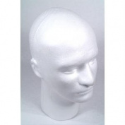 Male Styrofoam Head with Face, 30cm