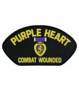 OFFICIALLY licenced Embroidered Military Purple Heart Large Patch 10cm x 14cm #PML-145