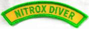 Nitrox Diver Chevron Patch Embroidered Iron On Enriched Air Scuba Diving Emblem Souvenir