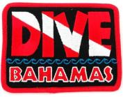 Dive Bahamas Patch Embroidered Iron On Scuba Diving Flag Emblem Souvenir