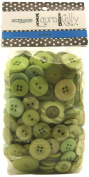 Buttons Galore Hand Dyed Buttons, 160ml, Apple Green