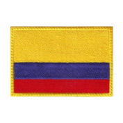 Colombia Flag Embroidered Sew on Patch