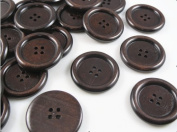 50pcs New 4 Hole Wood Buttons 35mm Sewing Craft
