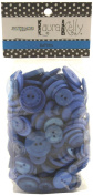 Buttons Galore Hand Dyed Buttons, 160ml, Brilliant Blue
