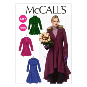 McCall Pattern Company M6800 Misses'/Miss Petite Lined Coats, Belt, Detachable Collar and Hood Sewing Template, Size A5
