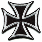 German Iron Cross military medal WW2 valour war biker Appliques Hat Cap Polo Backpack Clothing Jacket Shirt DIY Embroidered Iron On / Sew On Patch #1