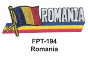 2.5cm - 1.3cm X 10cm - 1.3cm Flag Embroidered Patch Romania