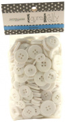 Buttons Galore Hand Dyed Buttons, 160ml, Wild White