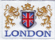 London Flag Embroidered Sew on Patch