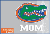 Florida Gators MOM w/ GATOR HEAD LOGO #2 Vinyl Decal Car Truck Window UF Mom Sticker