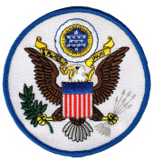 Great Seal of United States Embroidered Patch USA America Eagle Iron-On Emblem