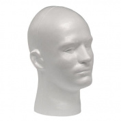 Male Styrofoam Mannequin Head Display