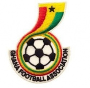 Ghana Football Association Fifa World Cup Soccer Iron on Patch Crest Badge ... 7cm X 5.1cm .. New