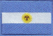 Argentina Flag Embroidered Sew on Patch