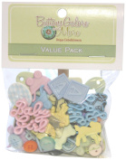 Buttons Galore 50-Value Pack Baby Button