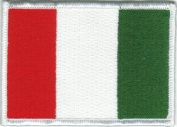 Italian Flag - Red, White, And Green - Embroidered Iron On Or Sew On Patch