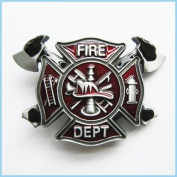 Brand:choi Western Fire Department Fireman Enamelled 3d Belt Buckle Oc-010