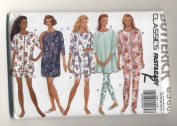 Butterick Womans Pyjamas and Nightshirt Sewing Pattern #6360