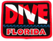 Dive Florida Patch Embroidered Iron On Scuba Diving Flag Emblem Souvenir