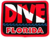 Dive Florida Patch Embroidered Iron On Scuba Diving Flag Emblem Souvenir